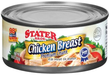 Stater bros Rib Meat In Water Chicken Breast Premium Chunk