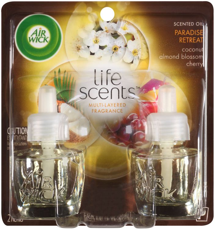 air wick® life scents™ paradise retreat scented oil air freshener refills