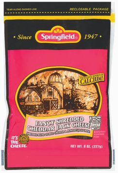 Springfield Fancy Shredded Cheddar Jack Cheese