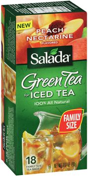 salada® green tea for iced tea peach nectarine flavored