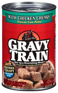 Gravy Train Chunks in Gravy with Chicken Chunks Wet Dog Food, 22-Ounce Can