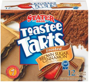 Stater bros Frosted Brown Sugar Cinnamon 12 Ct Toastee Tarts