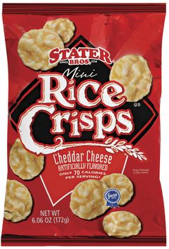 Stater bros Mini Cheddar Cheese Rice Crisps