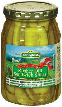 Springfield Kosher Dill Sandwich Slices Pickles
