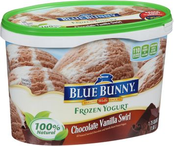 Blue Bunny Frozen Yogurt Chocolate Vanilla Swirl