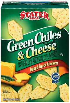 Stater bros Green Chiles & Cheese Baked Snack Crackers