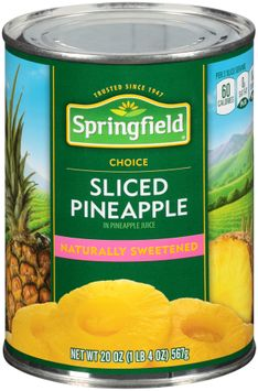 Springfield® Sliced Pineapple in Pineapple Juice