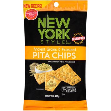 new york style® ancient grains & flaxseed pita chips