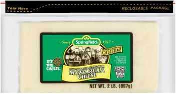 Springfield Mozzarella Low-Moisture Part-Skim Cheese