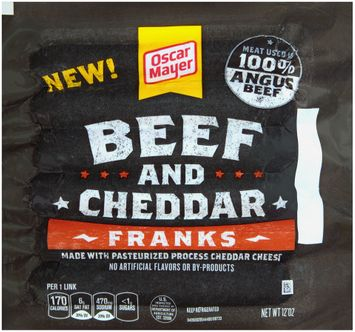 Oscar Mayer Beef and Cheddar Franks 6 ct Pack