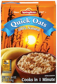 Springfield Quick Oats 100% Natural Oatmeal