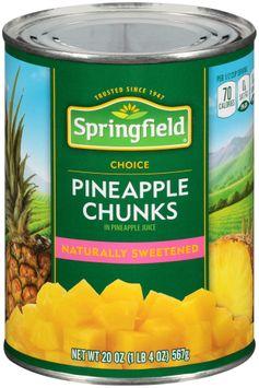 Springfield® Pineapple Chunks in Pineapple Juice