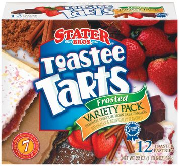 Stater bros Frosted Variety Pk 12 Ct Toastee Tarts