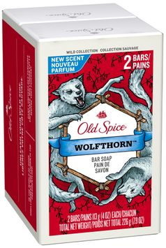 Old Spice Wild Collection Wolfthorn Bar Soap Twin Pack