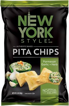 new york style® parmesan garlic + herb pita chips