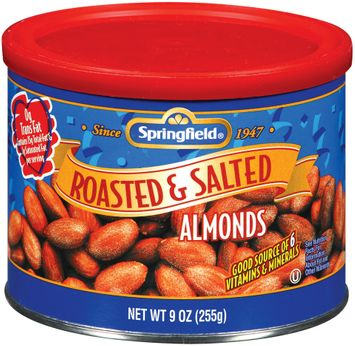 Springfield Almonds, Roasted & Salted Nuts
