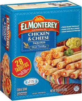 El Monterey® Chicken & Cheese Flour Tortilla Taquitos