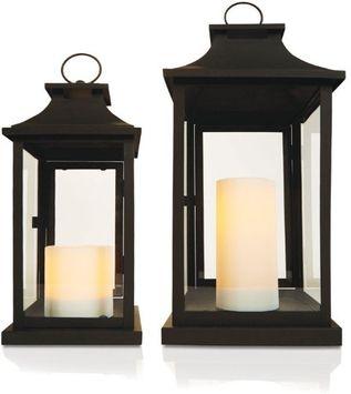 Paradise Flameless Candle Lanterns Nested Set 2/Set(GL29117MB)