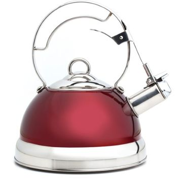 Norpro Whistling Teakettle Red HHK0KY50Q-1614