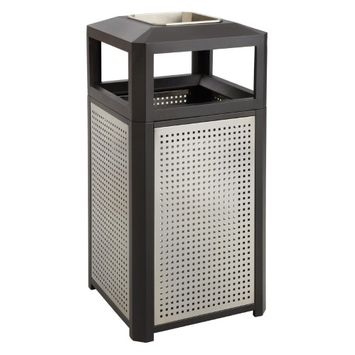 Safco 15 Gallon Evos Series Steel Ash Waste Receptacle