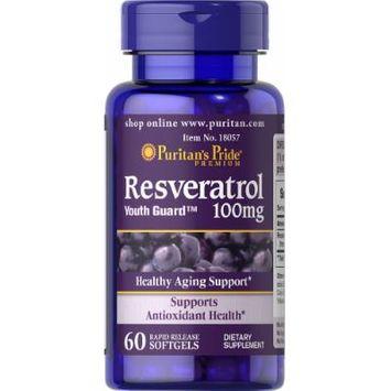 Puritan's Pride Resveratrol 100 mg-60 Softgels