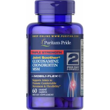 Puritan's Pride Triple Strength Glucosamine, Chondroitin & MSM Joint Soother-60 Caplets
