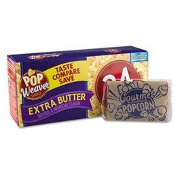 Office Snax Microwave Popcorn Pop Weaver, Extra Butter Flavor