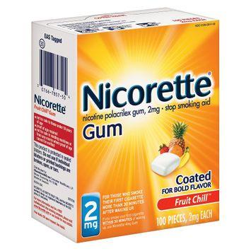 Nicorette Nicotine Polacrilex Gum, 2 mg, Fruit Chill 100 each by Abreva