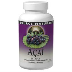 Source Naturals Acai Extract - 500 mg - 240 Vegetarian Capsules