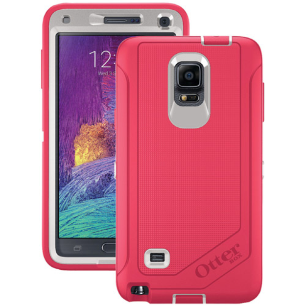 Otterbox OtterBox Samsung Galaxy Note 4 Defender Series Case with Belt Clip Holster, Neon Rose