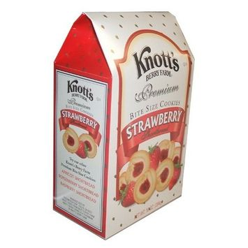 Knotts Berry Farm Knott's Berry Farm Premium Bite Sized Strawberry Shortbread Cookies Ten Ounce Gift Box