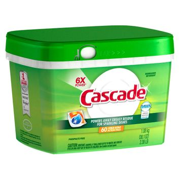 Cascade with Dawn Action Pacs Citrus Scent Dishwasher Detergent