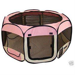 Bestpet Pink Pet Dog Cat Tent Puppy Playpen Exercise Pen X