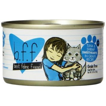 Best Feline Friend Cat Food, Tuna & Shrimp Sweethearts Recipe, 3-Ounce Cans (Pack of 12)