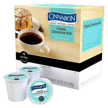 Keurig Cinnabon Bakery Inspired Coffee Classic Cinnamon Roll Light