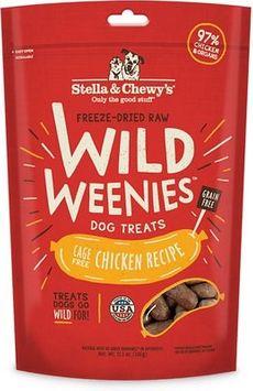 Stella & Chewy's Chicken Wild Weenies Freeze-Dried Raw Dog Treats