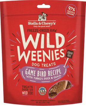 Stella & Chewy's Game Bird Wild Weenies Freeze-Dried Raw Dog Treats