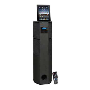 Pylehome PyleHome PHST96IPBK 600 Watt Digital 2.1 Channel Home Theater Tower with Docking Station