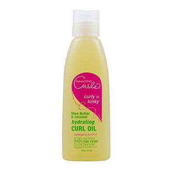 Alaffia Beautiful Curls & Coconut Hydrating Curl Oil, 4 oz