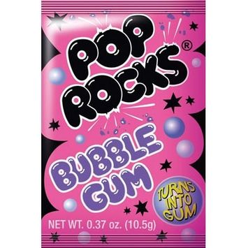 Pop Rocks Bubble Gum, Popping, 0.37 oz (10.5 g) - ZETA ESPACIAL, S.A.