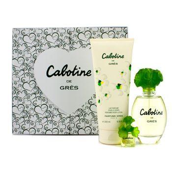 Gres Cabotine Coffret: Eau De Toilette Spray 100ml/3.4oz + Body Lotion 200ml/6.76oz + Miniature 3pcs