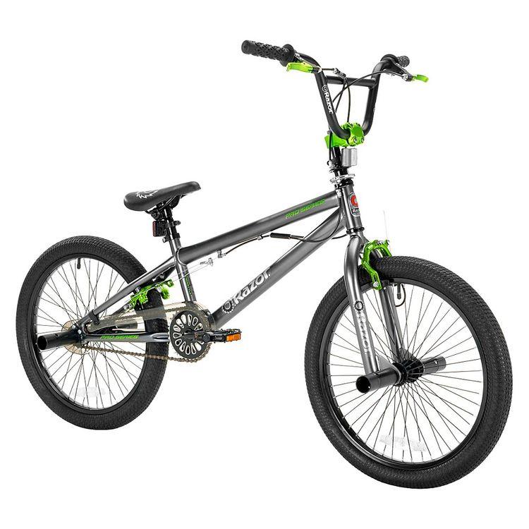 "Razor ProSeries 20"" Freestyle Boys Bike Grey/Green"