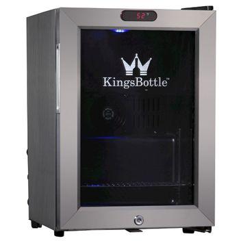 Kingsbottle 21 Can Stainless Steel Mini Bar Fridge