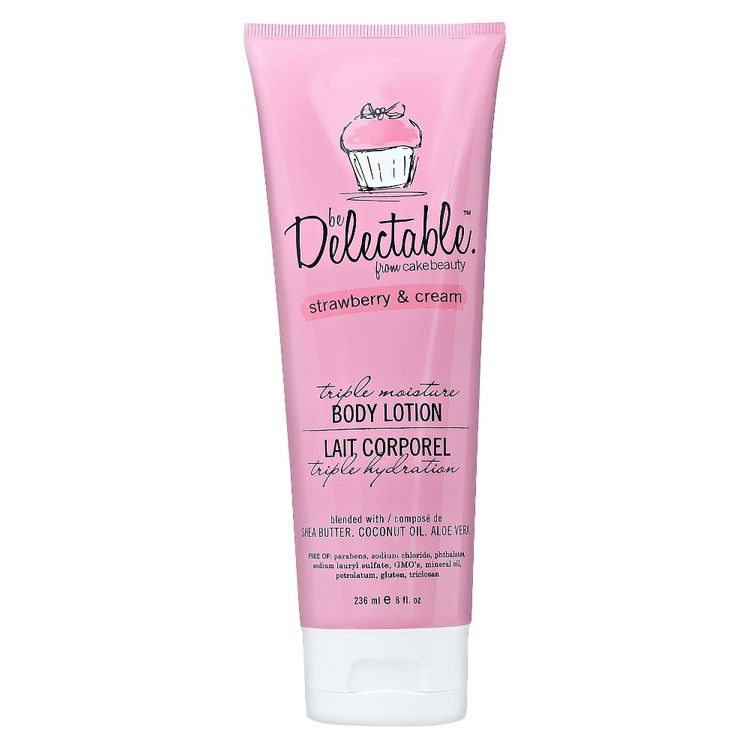 be Delectable from Cake Beauty Strawberry & Cream Body Lotion (White)