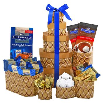 Alder Creek Gift Baskets Ghirardelli Chocolate Tower, 10 pc