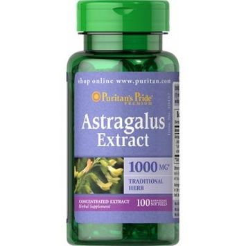 Puritan's Pride Astragalus Extract 1000 mg-100 Softgels