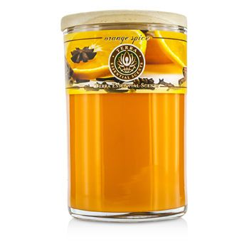 ORANGE SPICE SOY CANDLE 12 OZ TUMBLER. A SWEET & SPICY BLEND OF ORANGE, CINNAMON & SPICE OILS WITH CARNELIAN GEMSTONE. BURNS APPROX. 30+ HOURS for UNISEX