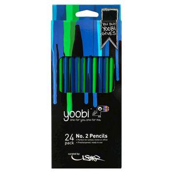 Yoobi, Lcc Yoobi x Usher Round No. 2 Pencils - Blue Drippies
