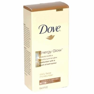 Dove Energy Glow Daily Face Moisturizer With Self-Tanner Medium To Dark Skin