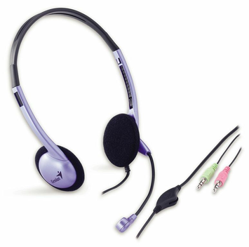 Genius HS-02B Classic Stereo Headset With Mic.